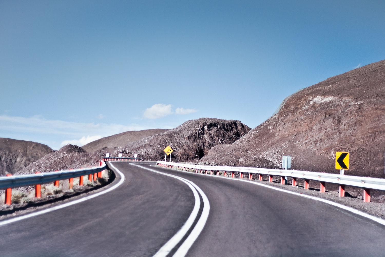 Droga z Calama'y do San Pedro de Atacama