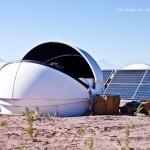 Dome of Pi of the Sky Obserwatory near San Pedro de Atacama on Atacama Desert